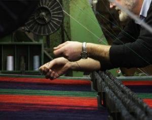 Foxford Woollen Mills blanket weaving