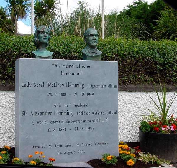 Memorial to Sir Alexander and Lady Sarah Fleming in Kilfian