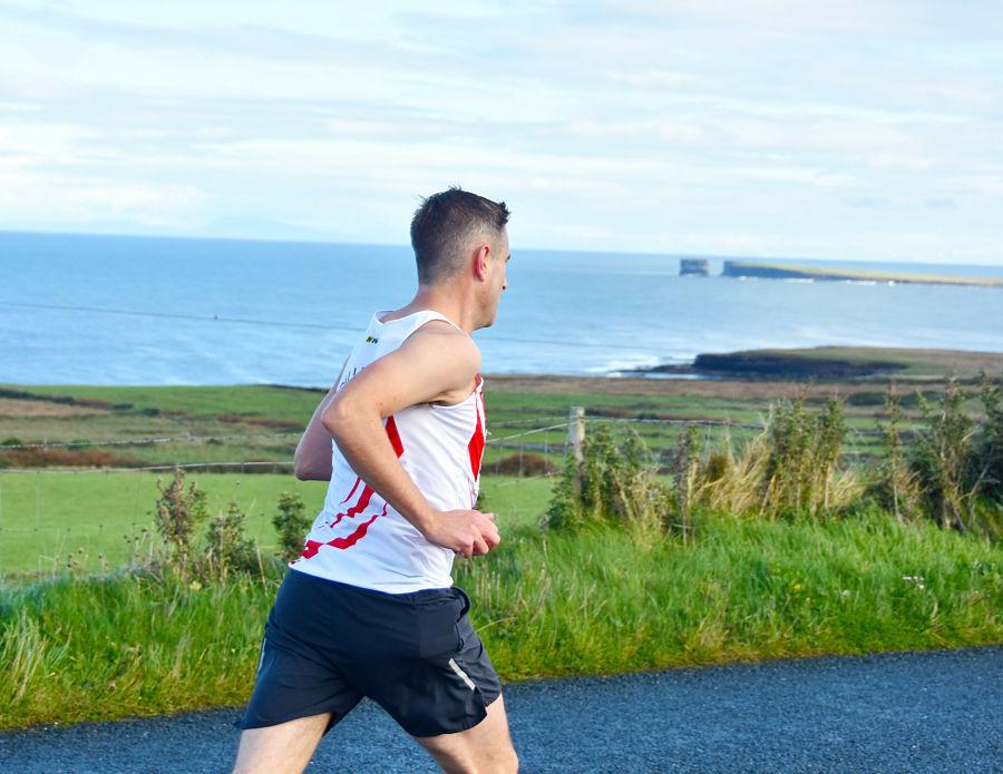 Ceide Coast Half Marathon & 10k Run with Colm McLoughlin. Photo : John O'Grady.