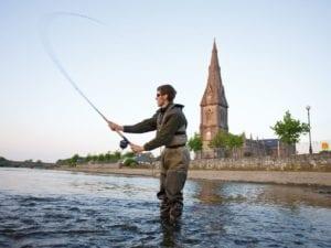 Fishing in Ballina Co. Mayo Ireland