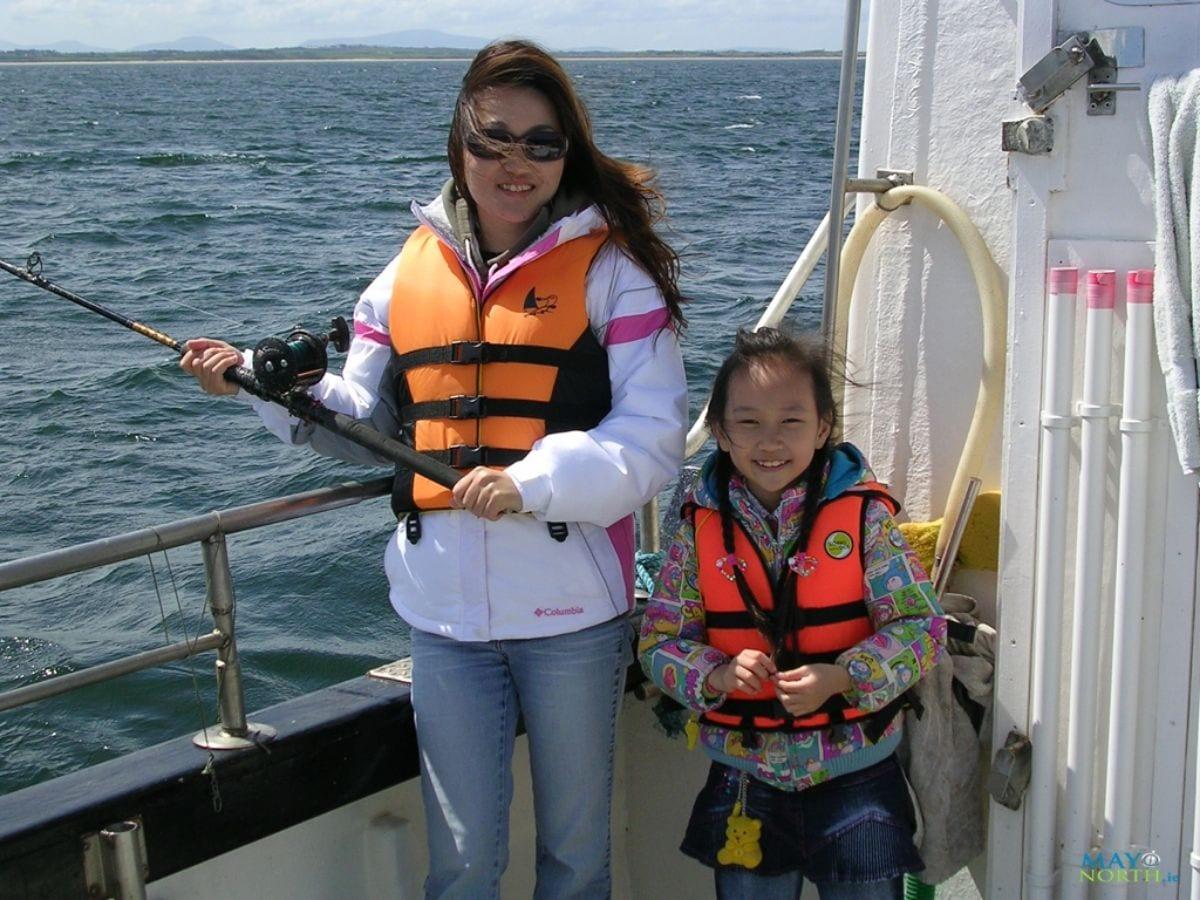 Sea fishing Killala Co. Mayo Ireland