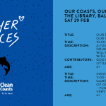 Our Voices Our Coasts; Saturday 29th February 2020