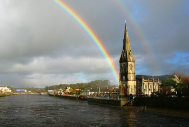 St. Muredach's Cathedral rainbow