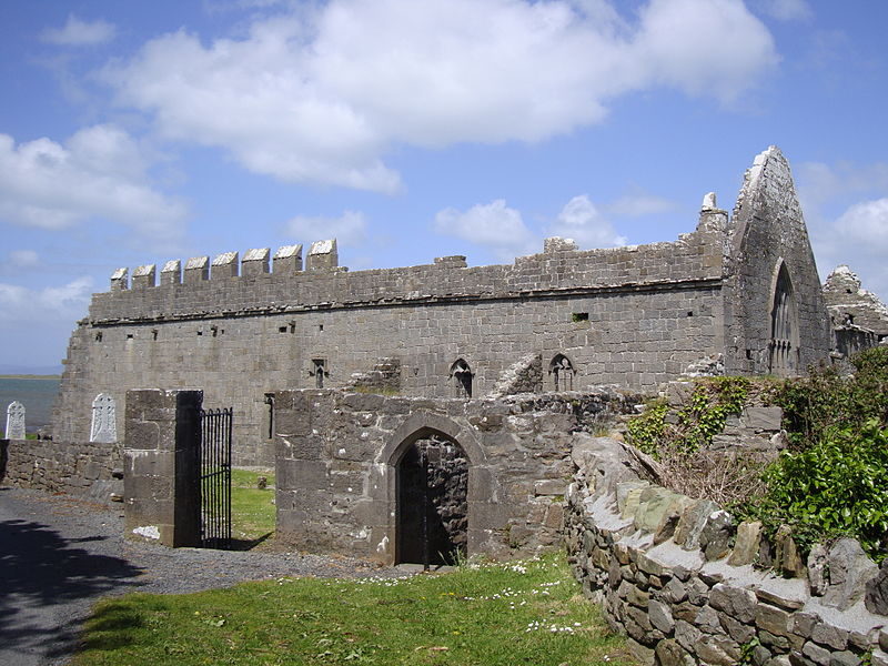Murrisk Abbey on the shores of Clew Bay