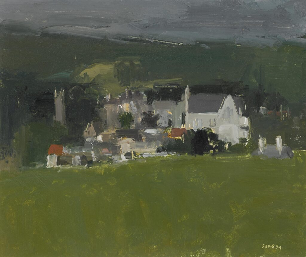 Stuart Shils,'View of Ballycastle from Bog Road', oil on paper, © The Ballinglen Museum of Contemporary Art