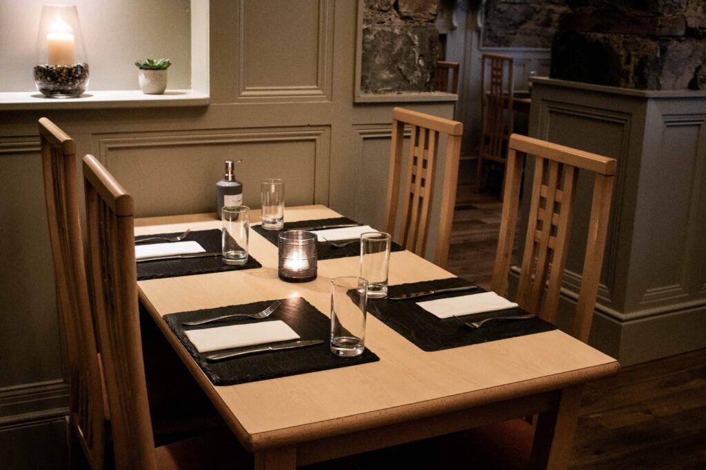 Dining at The Arch Bar & Restaurant, Killala, County Mayo, Ireland
