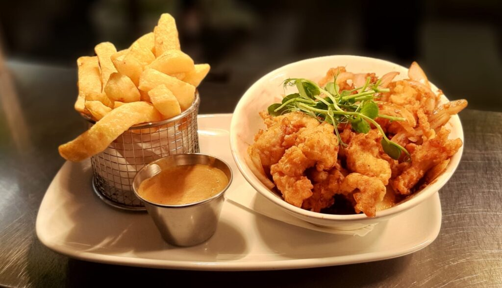 Delicious food at The Arch Bar & Restaurant, Killala, County Mayo, Ireland