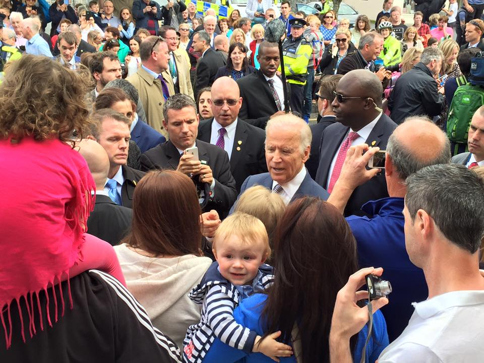 US Vice President Joe Biden meets locals in Ballina, Co. Mayo on a visit in 2016.