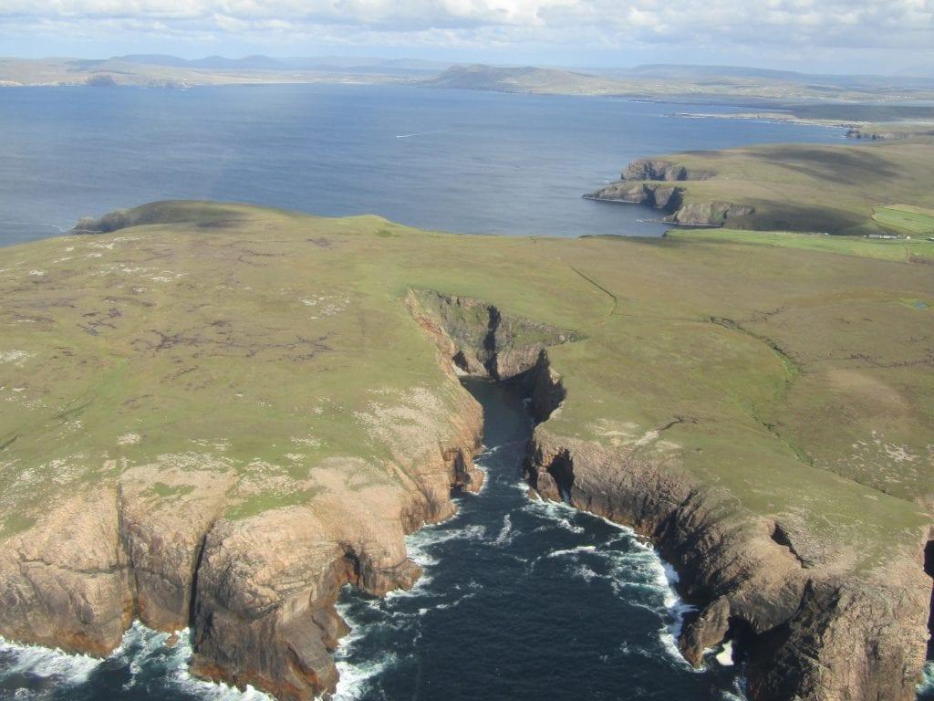 Erris Head, Co. Mayo, Ireland as seen from the air. Photo by Derek Davidson.