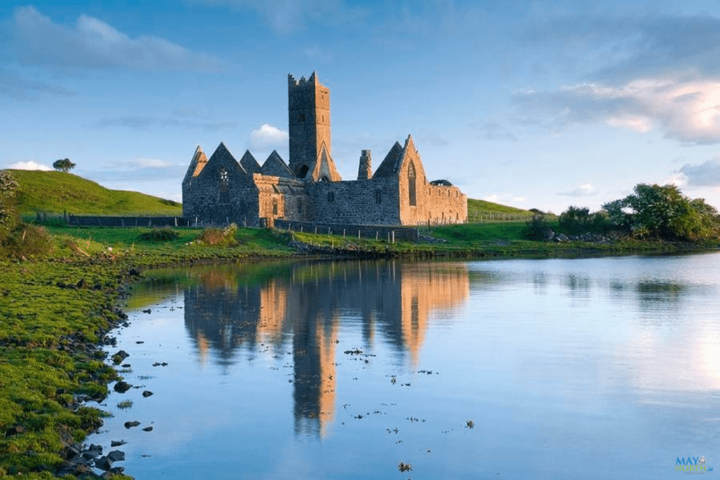 Rosserk Friary standing along the river Moy County Mayo Ireland