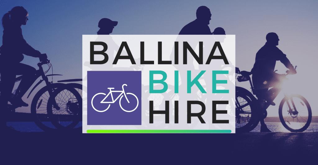 Ballina Bike Hire - Logo and background