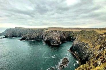 Cliffs at Kilgalligan on the Carrowteige Loop Walk Co Mayo Ireland