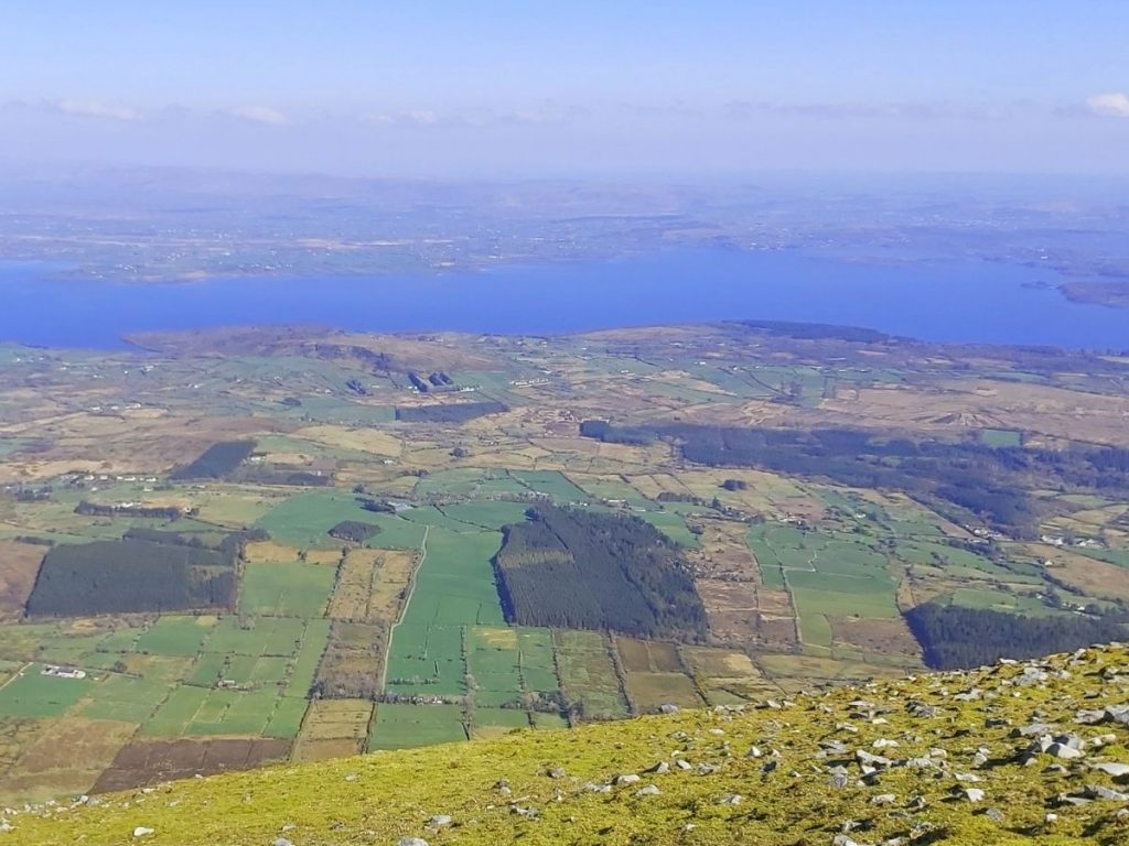View of Lough Conn from Nephin Mountain Co Mayo Ireland