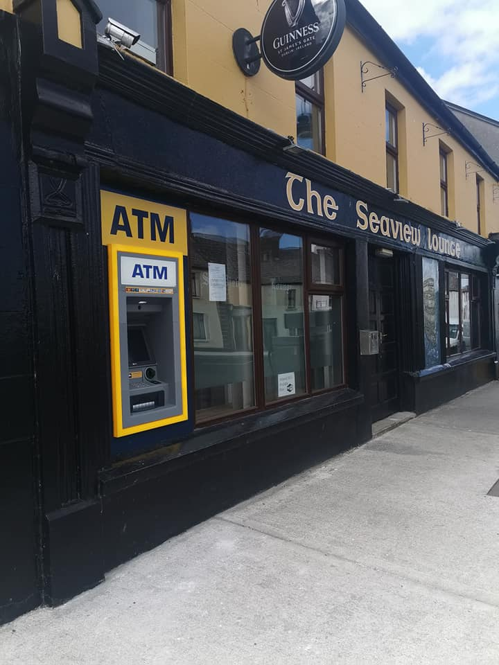 ATM available in Ballycastle, County Mayo outside The Seaview Lounge