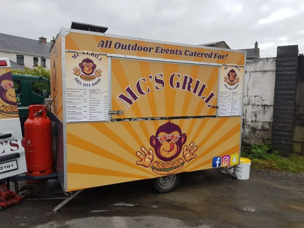 Mc's Grill  Coffee carts and food trucks in North Mayo