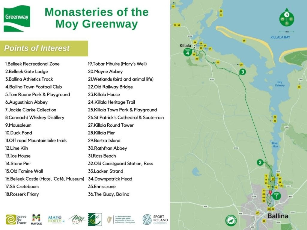 Monasteries of the Moy Route map