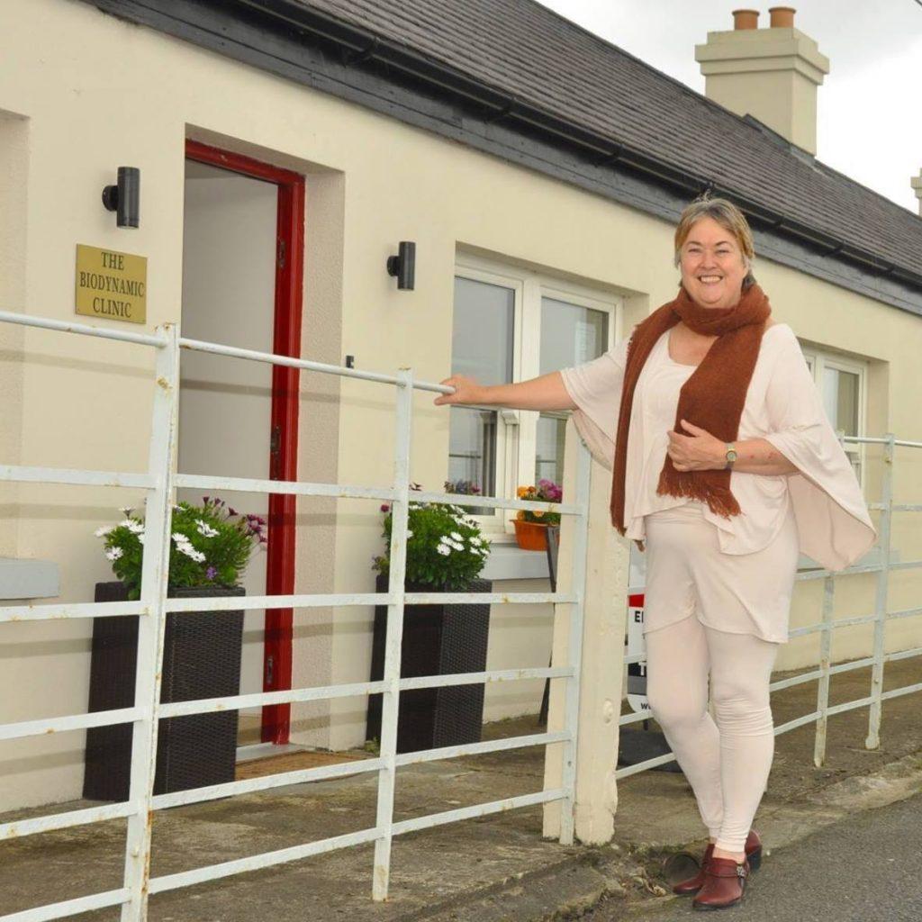 Mary Molloy outside The Biodynamic Clinic in Killala County Mayo Ireland