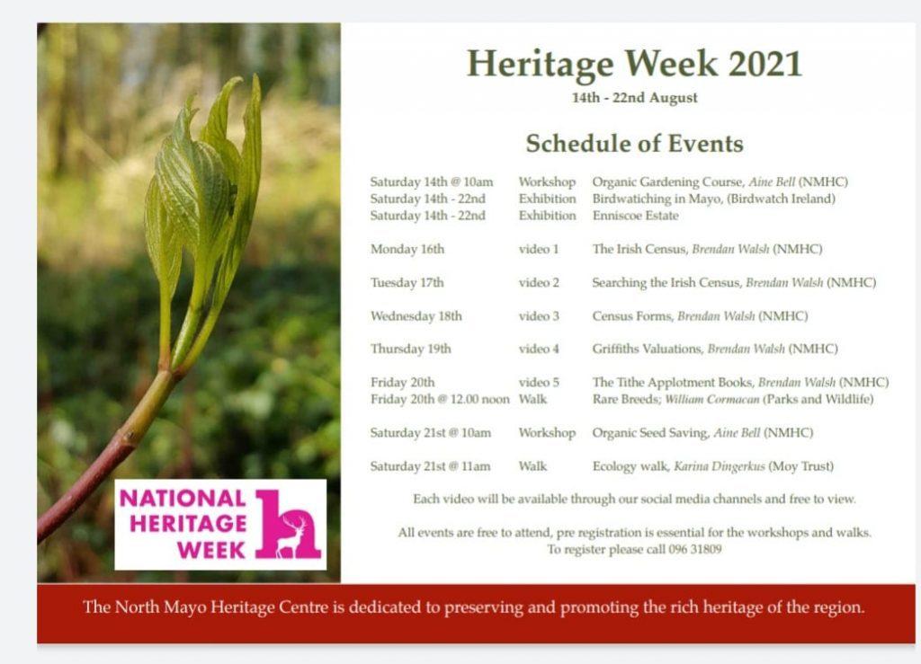 National Heritage Week 2021 at The North Mayo Heritage Week, County Mayo, Ireland