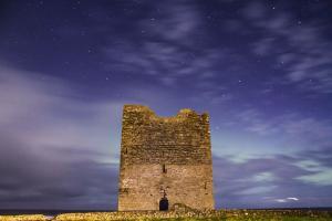 Easkey Tower against Purple Night Sky, Co. Sligo