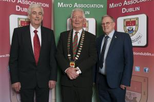 From L/R:  Pat Diamond (Mayo's Forgotten Famine Girls' Remembrance Group), Association's President Eddie Melvin and Bernie Finan (Mayo's Forgotten Famine Girls' Remembrance Group).