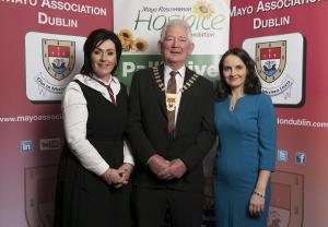 Mayo Association Dublin is delighted to announce that this year's charity partner for the Mayo People of The Year Awards is Mayo Roscommon Hospice Foundation Pallative Care Services.  from L/R CEO of Mayo Roscommon Hospice Martina Jennings, Association's President Eddie Melvin and Chairperson Julie Doyle. Pic: Michael McLaughlinIso: 280Copyright: Copyright Michael Mc Laughlin Studios 2018